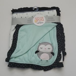 Carter's- Owl Blanket 28 in x 32in